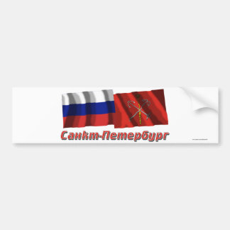 Russia and Saint Petersburg Bumper Stickers