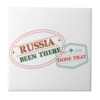 Russia Been There Done That Ceramic Tile