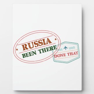 Russia Been There Done That Plaque