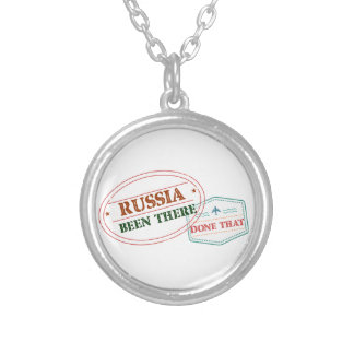 Russia Been There Done That Silver Plated Necklace