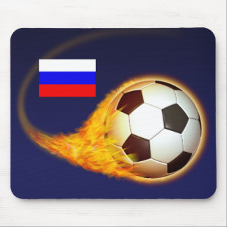 Russia Blazing Soccer Mouse Pad