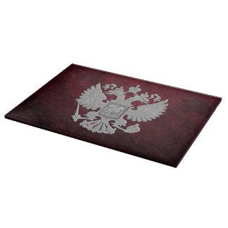 Russia coat arms cutting board