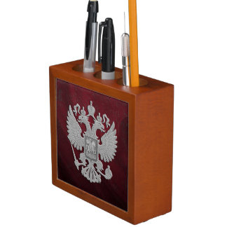 Russia coat arms desk organiser