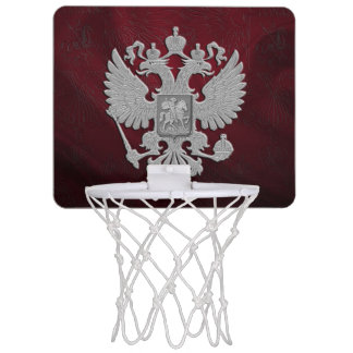 Russia coat arms mini basketball hoop