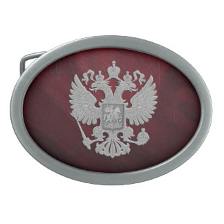 Russia coat arms oval belt buckle