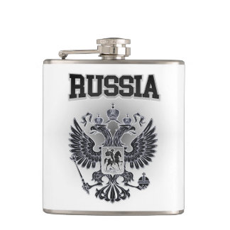 Russia Coat of Arms Hip Flask