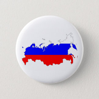 russia country flag map shape symbol 6 cm round badge