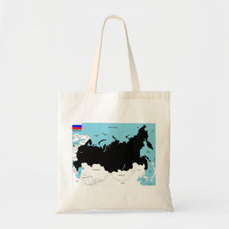 russia country political map flag canvas bag