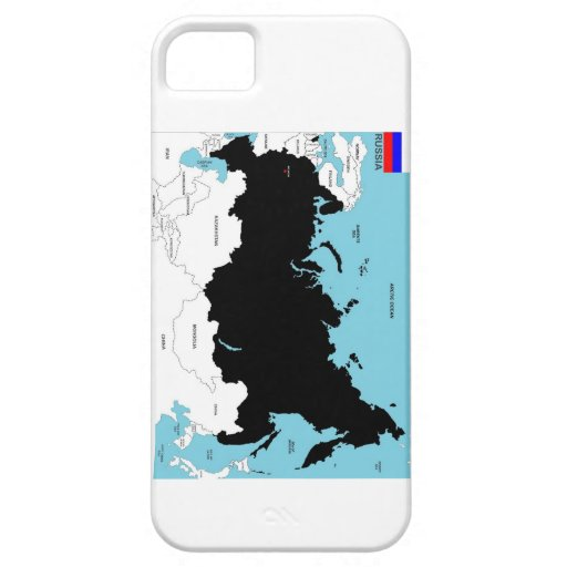 russia country political map flag iPhone 5 cover