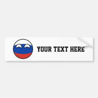 Russia Countryball Bumper Sticker