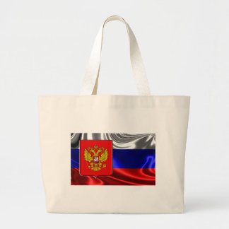 russia-Flag #4 Large Tote Bag