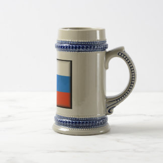Russia Flag Beer Stein