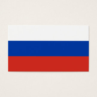 Russia Flag Business Card