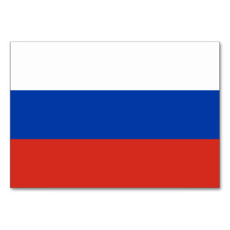 Russia Flag Card