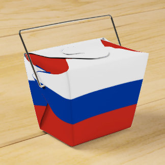 Russia Flag Favour Box