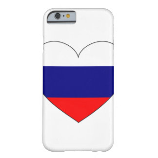 Russia Flag Heart Barely There iPhone 6 Case
