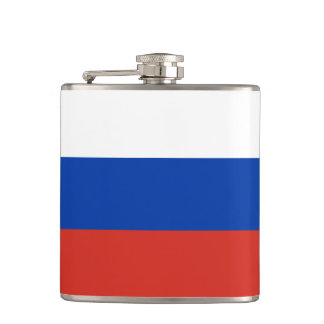 Russia Flag Hip Flask