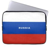Russia Flag Laptop Sleeve