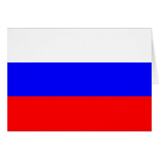 Russia Flag Note Card