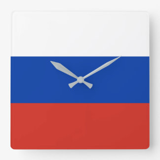 Russia Flag Square Wall Clock