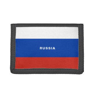 Russia Flag TriFold Nylon Wallet