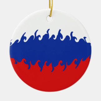 Russia Gnarly Flag Christmas Tree Ornaments