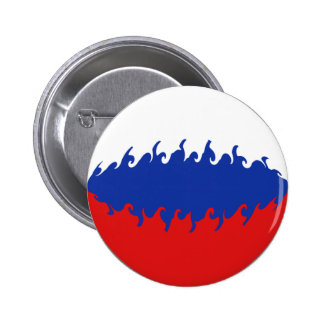 Russia Gnarly Flag Pinback Button