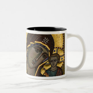 Russia, Moscow, Red Square. Our Lady of Kazan Two-Tone Coffee Mug