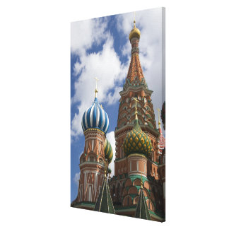 Russia, Moscow, Red Square. St. Basil's 4 Canvas Print