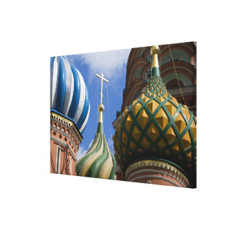 Russia, Moscow, Red Square. St. Basil's Canvas Print