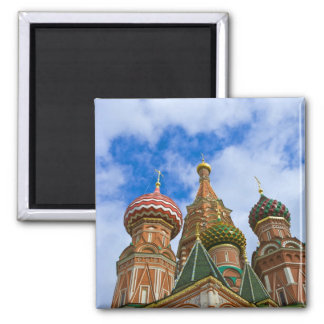 Russia, Moscow, Red Square, St. Basil's Square Magnet