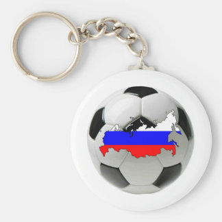 Russia national team basic round button key ring