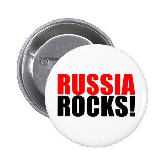 RUSSIA ROCKS 6 CM ROUND BADGE