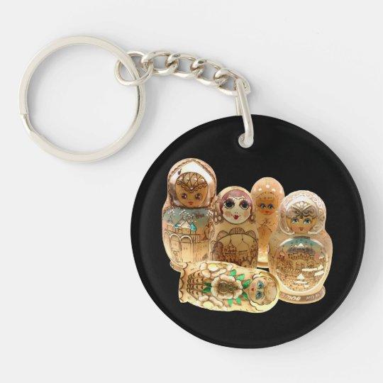 Russia - Russia babushka key supporter Double-Sided Round Acrylic Key Ring