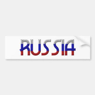 Russia Russian Flag Colors Typography Elegant Bumper Sticker