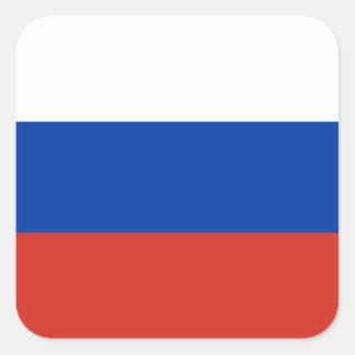 Russia/Russian Flag Square Sticker