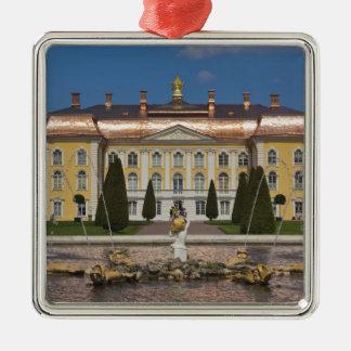 Russia, Saint Petersburg, Peterhof, Grand Palace 3 Silver-Colored Square Decoration