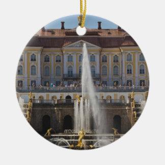 Russia, Saint Petersburg, Peterhof, Grand Palace 4 Round Ceramic Decoration