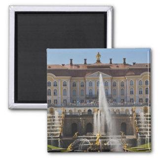 Russia, Saint Petersburg, Peterhof, Grand Palace 4 Square Magnet