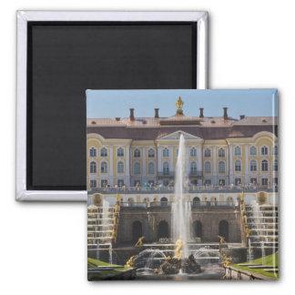 Russia, Saint Petersburg, Peterhof, Grand Palace Square Magnet