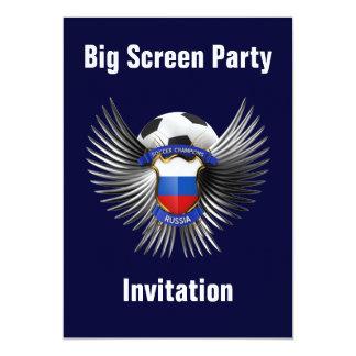 Russia Soccer Champions 13 Cm X 18 Cm Invitation Card