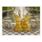 Russia, St. Petersburg. Samson fountain at Postcard