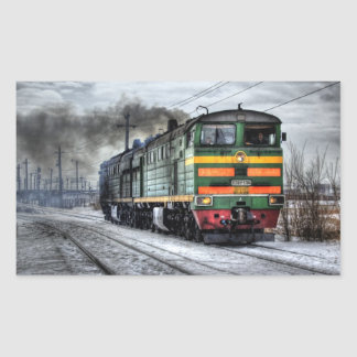 Russia Train Locomotive Rectangular Sticker