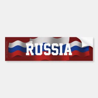 Russia Waving Flag Bumper Sticker