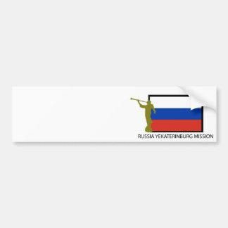 RUSSIA YEKATERINBURG MISSION LDS CTR BUMPER STICKER