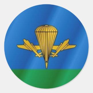 Russian Airborne flag Round Sticker