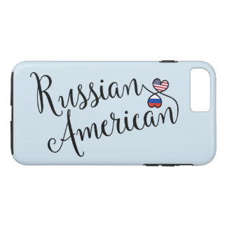 Russian American Entwined Hearts Mobile Phone Case