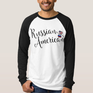 Russian American Entwinted Hearts Tee Shirt