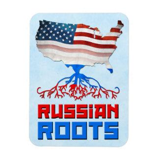 Russian American Roots Flexi Magnet