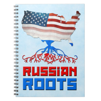 Russian American Roots Notepad Notebooks